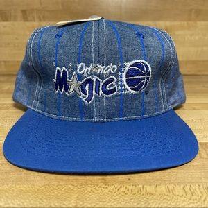 Vintage Orlando Magic Pin Stripe Snapback Hat NBA